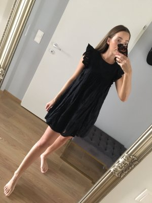Zara Sommerkleid Lochspitze Schwarz S