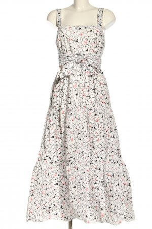 Zara Sommerkleid weiß-schwarz Allover-Druck Casual-Look