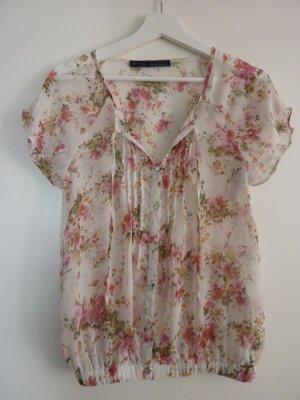 Zara sommerliche Bluse mit Blumenmuster Größe S neu!