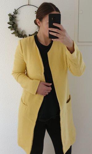 Zara Giacca lunga giallo chiaro