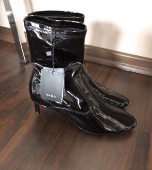 Zara Sommerstiefelette schwarz Gr. 38 Schuhe Stiefel