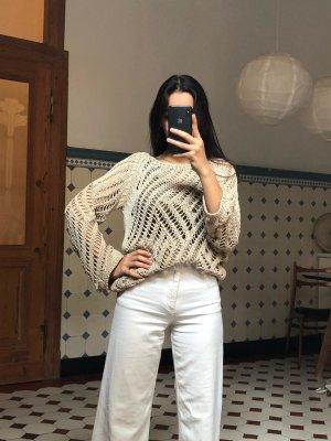 Zara Jersey de punto beige tejido mezclado
