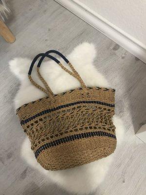 Zara Minibolso color oro-azul