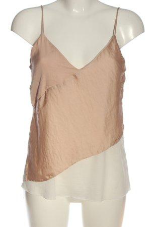 Zara Spaghettiträger Top pink-creme Casual-Look