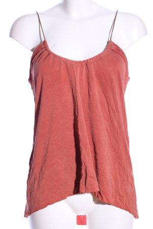 Zara Top de tirantes finos rojo look casual