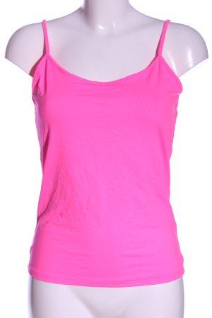 Zara Spaghettiträger Top pink Casual-Look