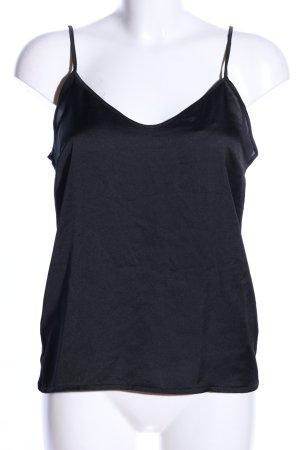 Zara Top z cienkimi ramiączkami czarny W stylu casual