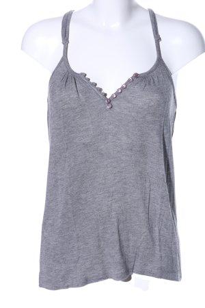 Zara Top con bretelline grigio chiaro puntinato stile casual