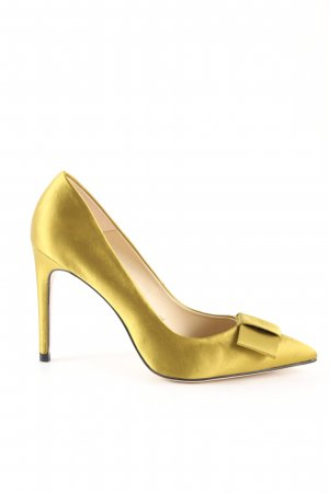 Zara Spitz-Pumps goldfarben Elegant