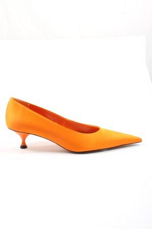 Zara Spitz-Pumps hellorange Elegant