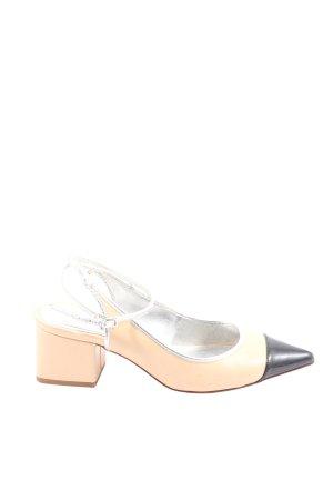 Zara Spitz-Pumps weiß-schwarz Casual-Look