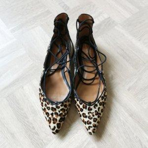 Zara spitze Ballerinas Leopard Leomuster Gr. 40 NEUw
