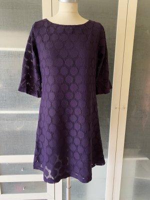 Zara Spitzen Kleid Gr S lila