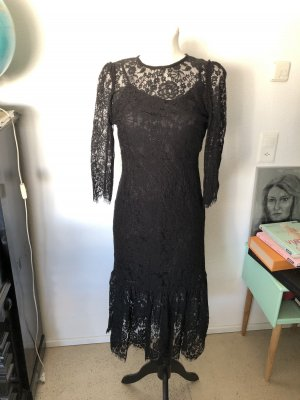 Zara Spitzen Kleid M schwarz
