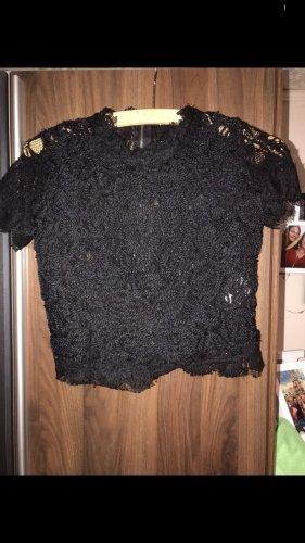 Zara Spitzen Shirt Gr. Xs