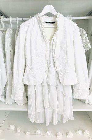 Zara Blazer corto bianco-bianco sporco