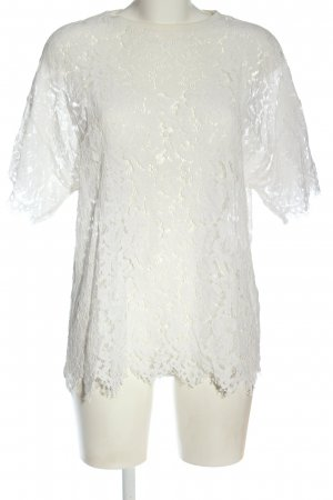 Zara Spitzenbluse weiß Elegant