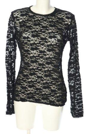 Zara Spitzenbluse schwarz klassischer Stil