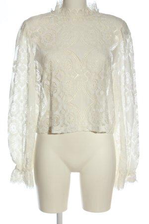 Zara Lace Blouse natural white elegant