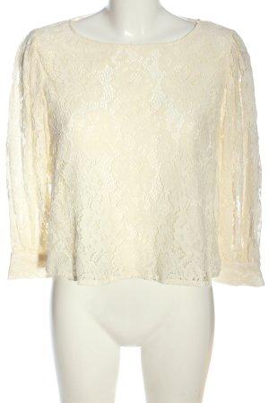 Zara Spitzenbluse creme Casual-Look