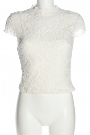 Zara Lace Blouse white flower pattern elegant
