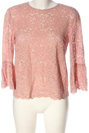 Zara Spitzenbluse pink Casual-Look