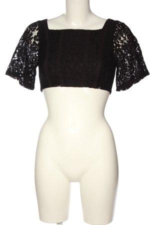Zara Spitzenbluse schwarz Elegant