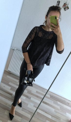 Zara Trafaluc Lace Blouse black