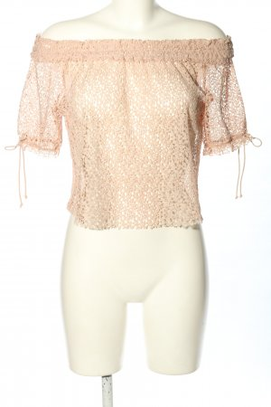 Zara Blusa in merletto color carne elegante