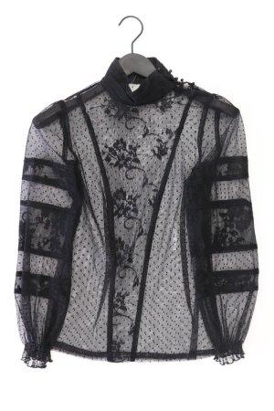 Zara Spitzenbluse Größe S Langarm schwarz aus Polyester