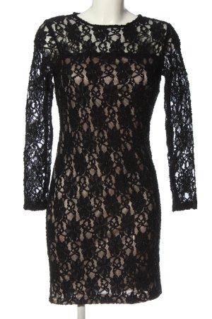 Zara Spitzenkleid schwarz-wollweiß Casual-Look