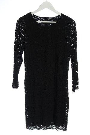 Zara Spitzenkleid schwarz Webmuster Casual-Look
