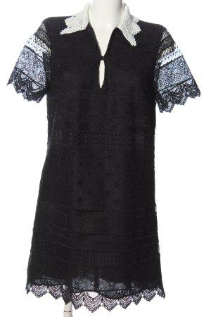 Zara Spitzenkleid schwarz Elegant