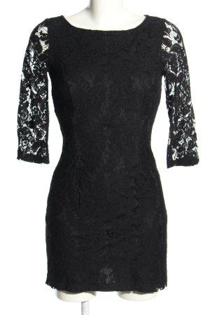 Zara Spitzenkleid schwarz Blumenmuster Elegant