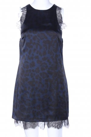 Zara Spitzenkleid blau-schwarz Leomuster Elegant