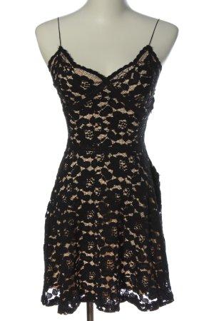 Zara Spitzenkleid schwarz-creme Elegant