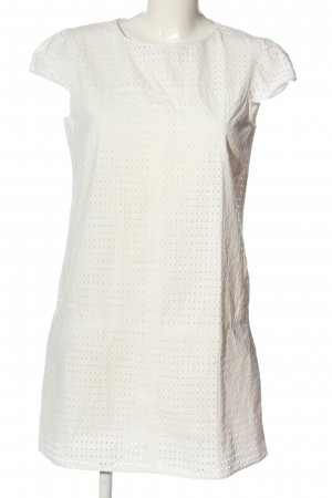 Zara Spitzenkleid weiß abstraktes Muster Casual-Look