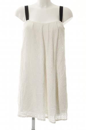 Zara Spitzenkleid weiß Blumenmuster Elegant