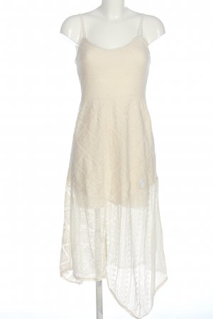 Zara Abito in pizzo bianco sporco elegante