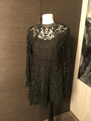 Zara Spitzenkleid M grün Minikleid
