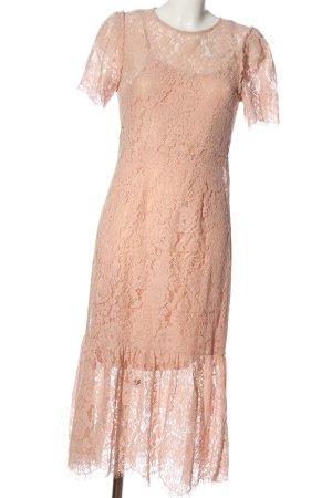 Zara Spitzenkleid pink Casual-Look