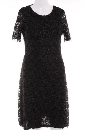 Zara Spitzenkleid schwarz Business-Look