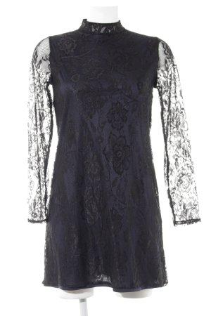 Zara Spitzenkleid schwarz-dunkelblau Party-Look