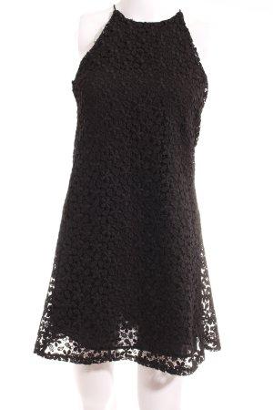 Zara Spitzenkleid schwarz florales Muster Casual-Look