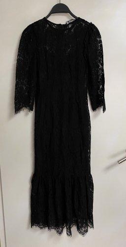 Zara Spitzenkleid Volant Midikleid Kleid lang Spitze Neu XS 34