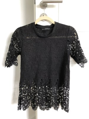 Zara spitzenoberteil schwarz Shirt spitze S