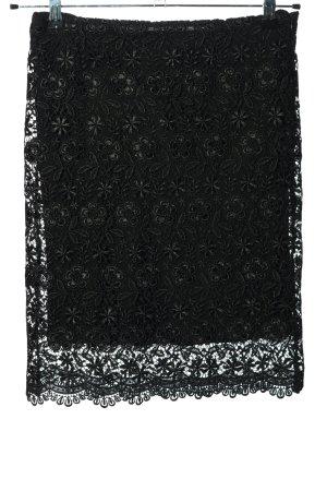 Zara Falda de encaje negro elegante