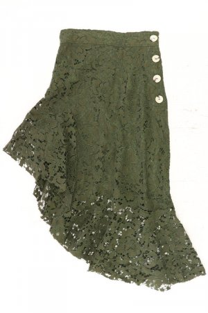 Zara Lace Skirt olive green