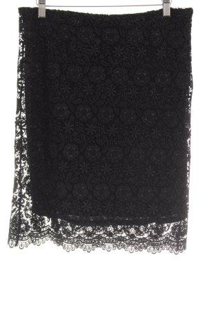 Zara Spitzenrock schwarz Stickereiverzierung
