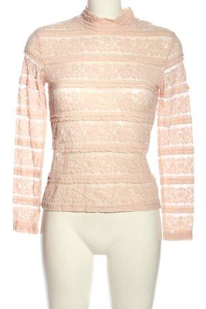 Zara Spitzentop pink Casual-Look